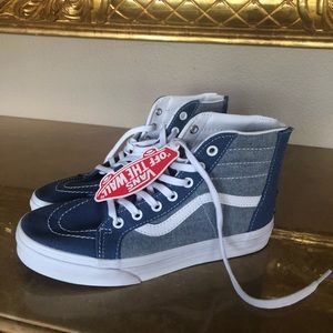 Vans high top shoes kids size 4